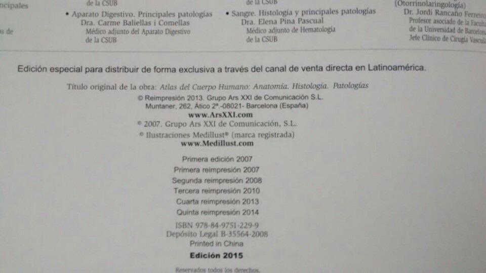 Atlas Del Cuerpo Humano Anatomía Fisiología Patología Lexus ...