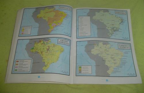 atlas escolar didático dcl - frete grátis