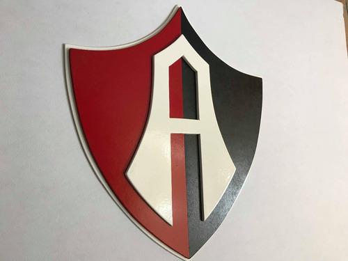 atlas fc, logo/cuadro en madera mdf
