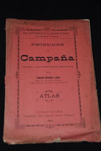 atlas fortificacion campaña campo batalla planos 1903
