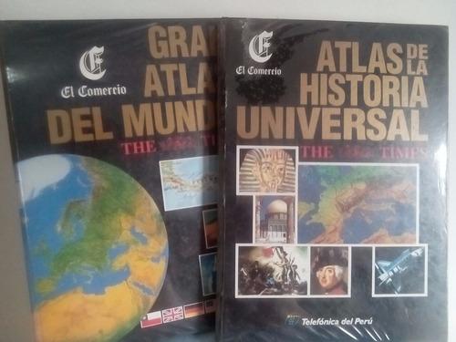 atlas historia universal y atlas geografia universal