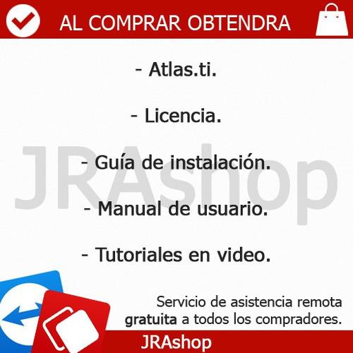 atlas.ti 7.5.4 - herramienta, manual, videos y mas