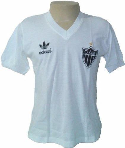 765d9fff6 Camisa Retrô Atlético Mg 1985 Branca Feminina   Baby Look - R  89