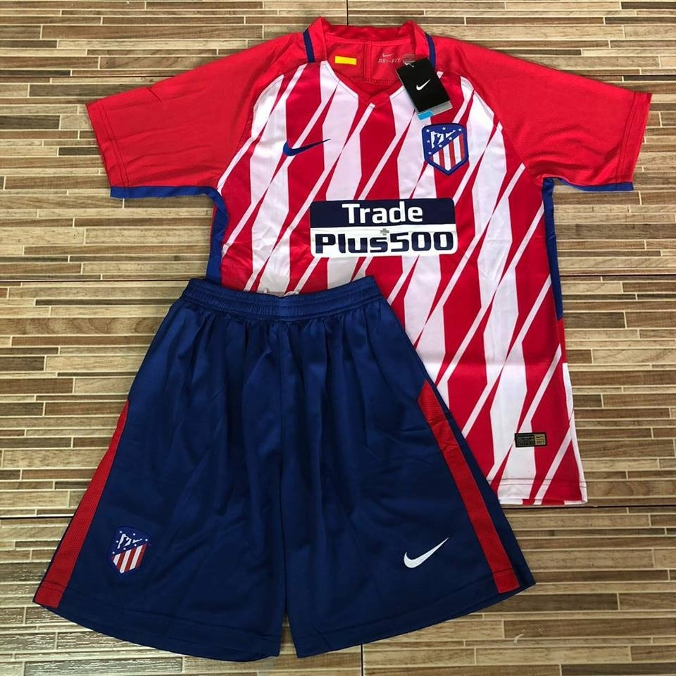 Kit Atletico De Madrid 2018 Camisa + Short - R  159 bd1b0fbe2ae21