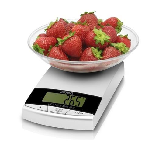 atma bc7103e balanza de cocina 3 kgs. con bowl