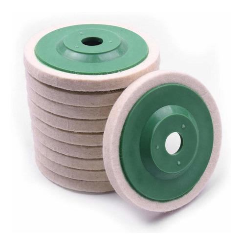 atoplee 10pcs 4 '' de lana 100 mm pulido pulido de ruedas co