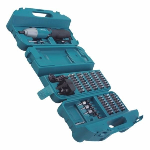 atornillador a batería 4.8v. 80 piezas makita 6723dw