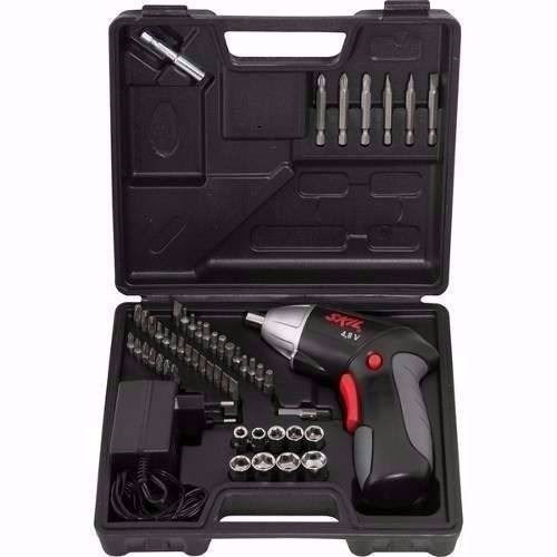 atornillador a batería 4.8v con 51 accesorios skil 2248