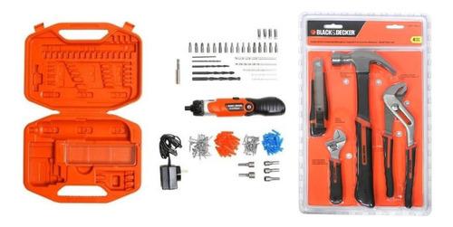 atornillador a bateria black+decker + herramientas+accesorio