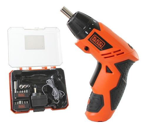 atornillador black y decker 4.8 v accesorios caja