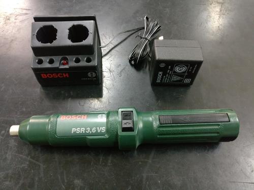 atornillador bosch psr 3.6 vs - batería nicad