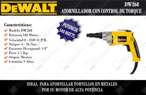 atornillador con control de torque hex1/a veolicidadvariable