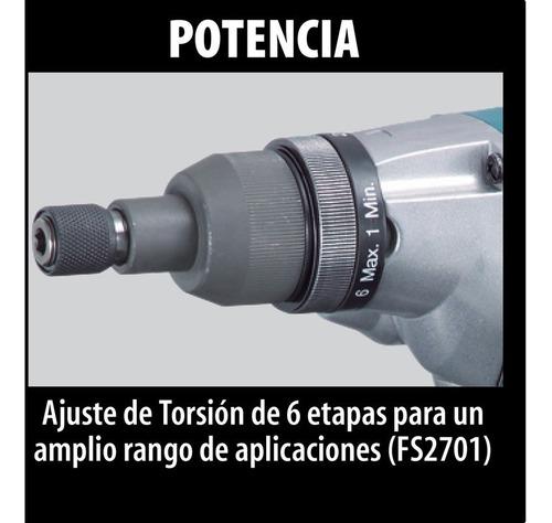 atornillador con torque makita fs2701 570w sin interes