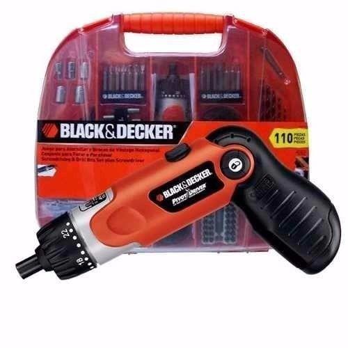 atornillador de 3,6v +110 accesorios fdx100 + minitorno b&d