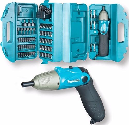 atornillador electrico makita inalambrico recargable 80pz