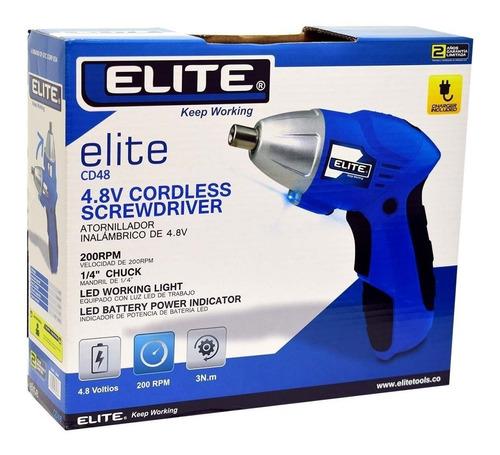 atornillador elite inalambrico 1/4  4.8v 200rpm ref cd48