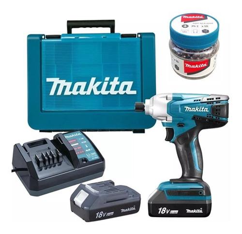 atornillador impacto td127dwe + set puntas b-26521 makita