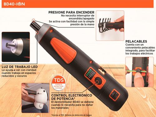 atornillador inal. 4v + 27 acc. black+decker bd40k27-b2