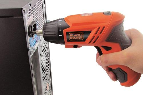 atornillador inalámbrico black + decker 4.8v 15 puntas crv