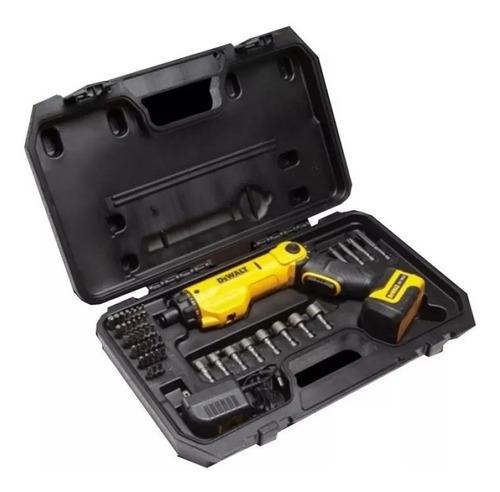 atornillador inalambrico dewalt dcf060 6v 45 acc maleta luz