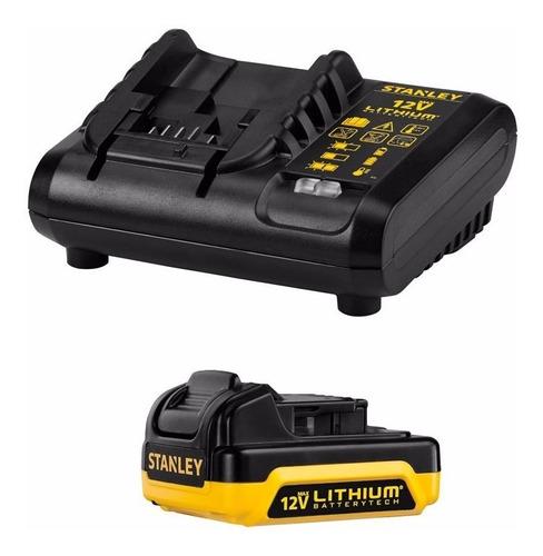 atornillador inalámbrico impacto stanley 12v 2 batería litio