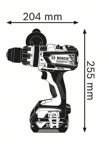 atornillador percutor bosch gsb 18 ve ec 2bat litio maletín