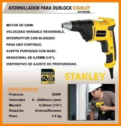 atornillador stanley stdr5206 p/drywall 520w - ynter