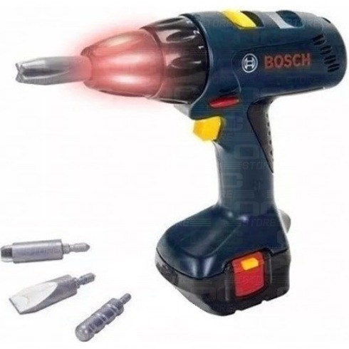 atornillador taladro de juguete bosch original luz sonido f