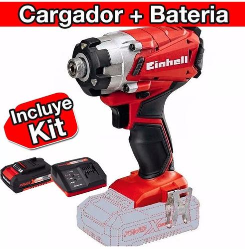 atornillador taladro inalambrico einhell baterias y cargador