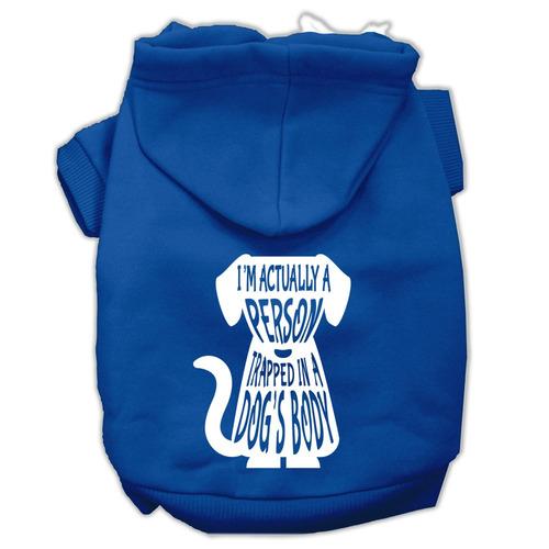atrapado pantalla impresión pet hoodies azul tamaño xxxl (