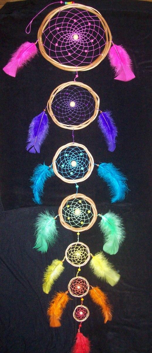 Atrapasueños 7 Colores Chakras 15 M De Largo 39900 En Mercado