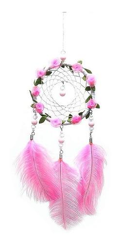 atrapasueños dreamcatcher artesanal atrapasueño rosado