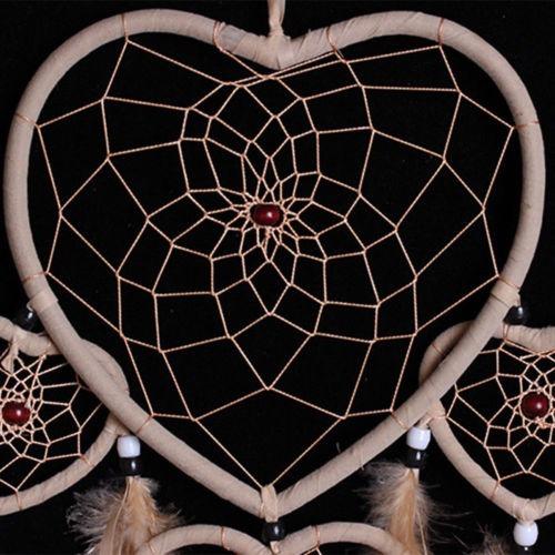 Atrapasueños Marrón Con Corazón De Plumas En Forma De 37990