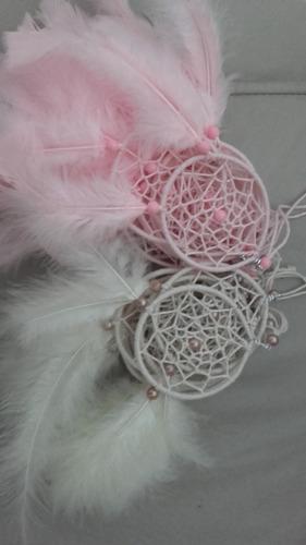 atrapasueños souvenirs de todos los colores con 2 plumas