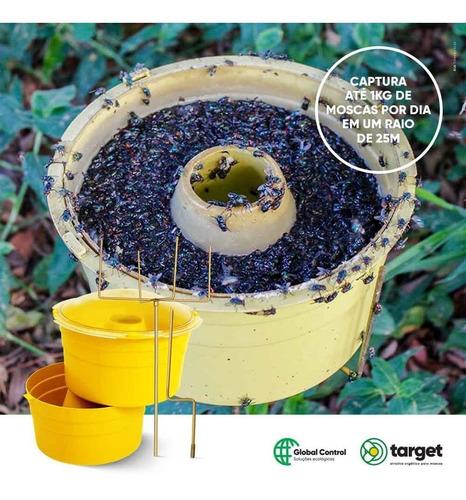atrativo para moscas + 01 armadilha 02 litros de atrativo