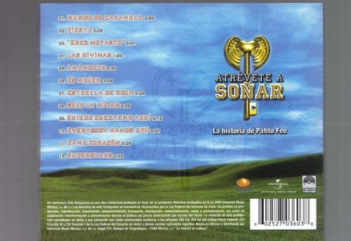 atrevete a soñar la historia de patito feo cd nuevo envio gr