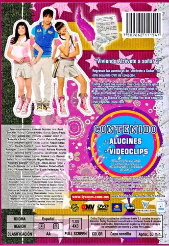 atrevete a soñar viviendo 2 dos danna paola telenovela dvd