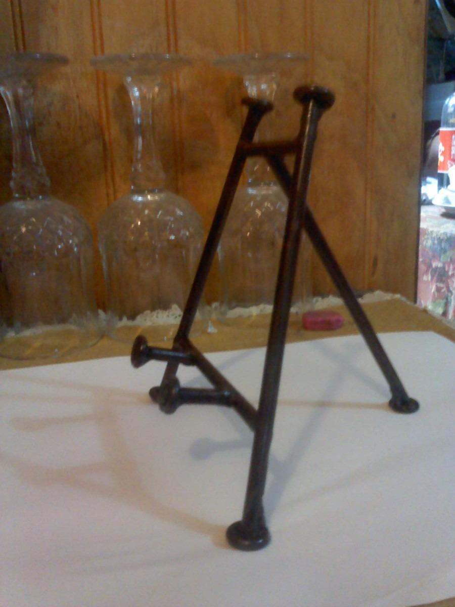Atril de mesa de fierro metalico oxido lacado en for Cuanto cuesta un caballete