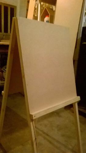atril doble pizarra infatil, 1mts de alto, listo para pintar