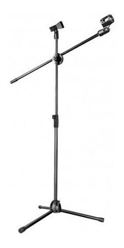 atril micrófono boom en aluminio y plástico nb-107