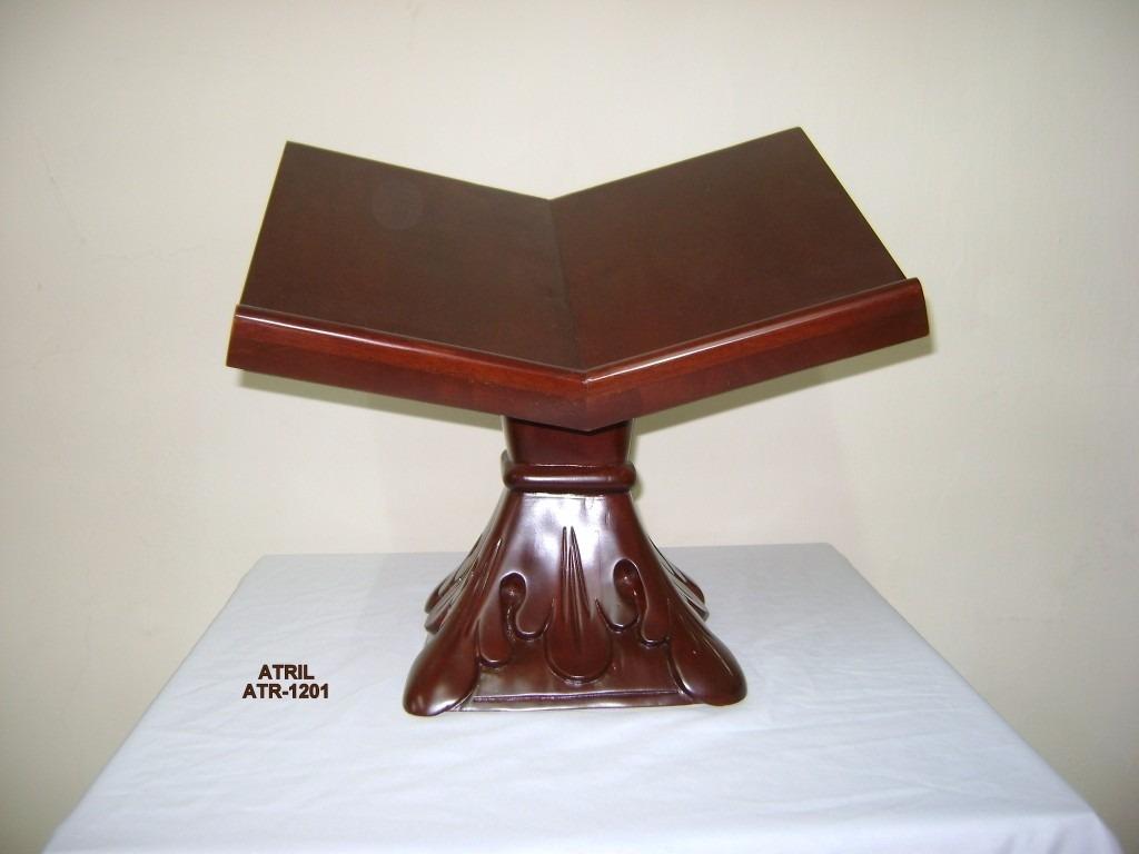 Atril porta biblia de madera de caoba tallados a mano 1 en mercado libre - Muebles atril ...