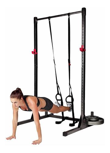atril sentadillas barra barbell jaula rack - dips flexiones