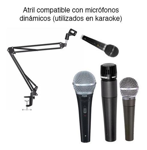 atril soporte para micrófono ajustable mesa escritorio