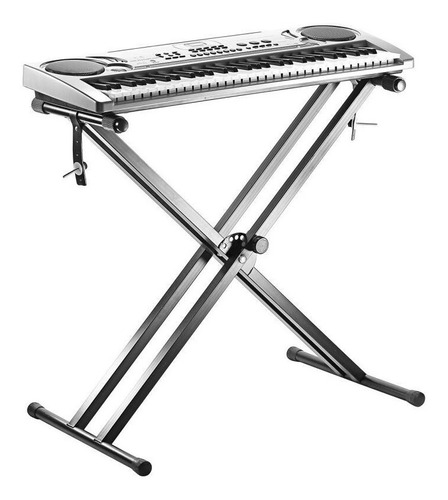 atril  soporte teclado doble reforzado altura ajustable