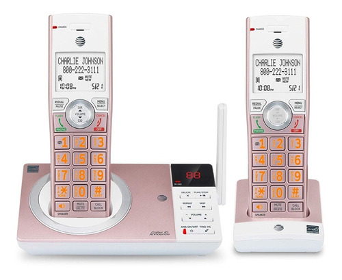 at&t cl82257 dect6.0 teléfono con contestadora y extension