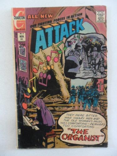 attack nº 8! charlton comics nov 1972! em inglês!