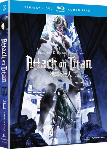 attack on titan 2 dos serie tv en blu-ray + dvd importada
