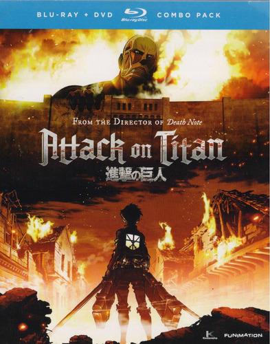 attack on titan parte 1 uno serie tv en blu-ray + dvd