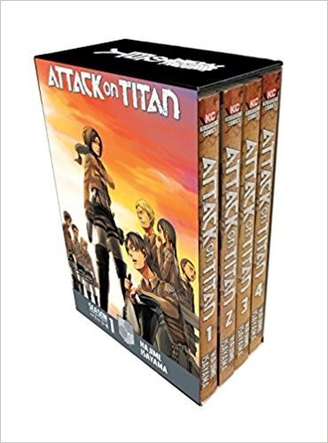 attack on titan season 1 part 1 manga box set hajime isayama