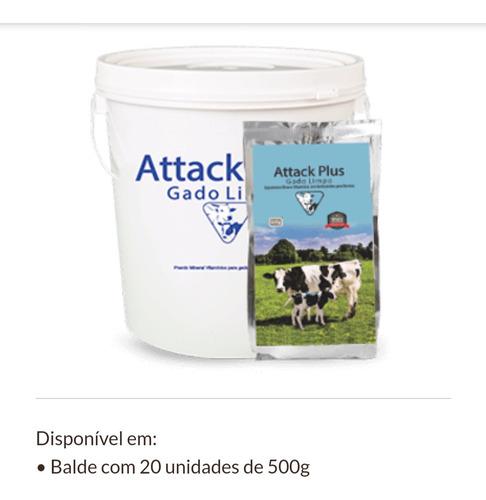 attack plus gado limpo. (  pacote de 500 gramas)